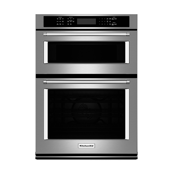 Kitchenaid Four combiné avec convection Even-Heat(MC), 27, inox KOCE507ESS