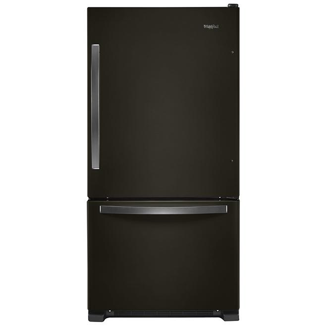 "Bottom-Freezer Refrigerator - 33"" - 22.1 cu.ft. - Black Steel"