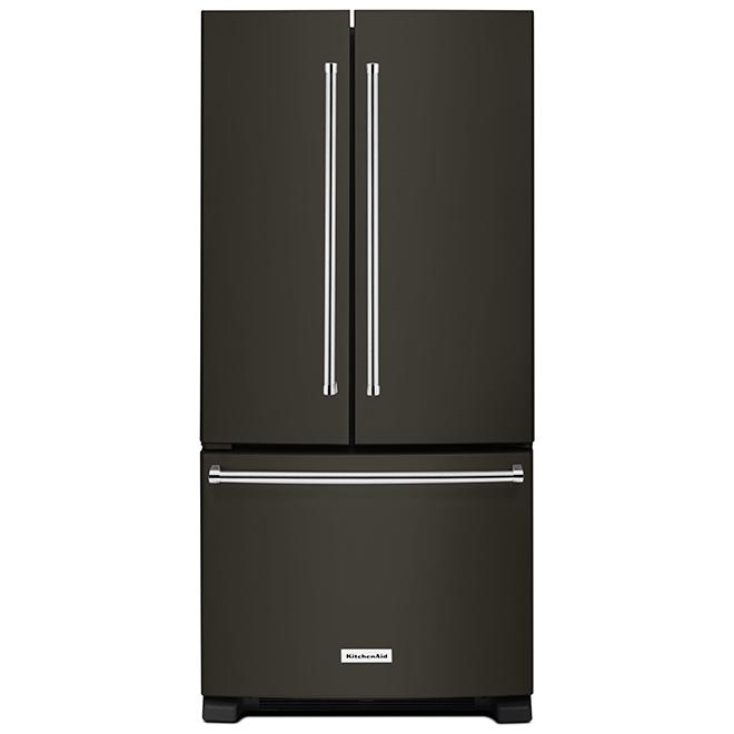 "French Door Refrigerator - 33"" - 22.1 cu. ft. - Black SS"