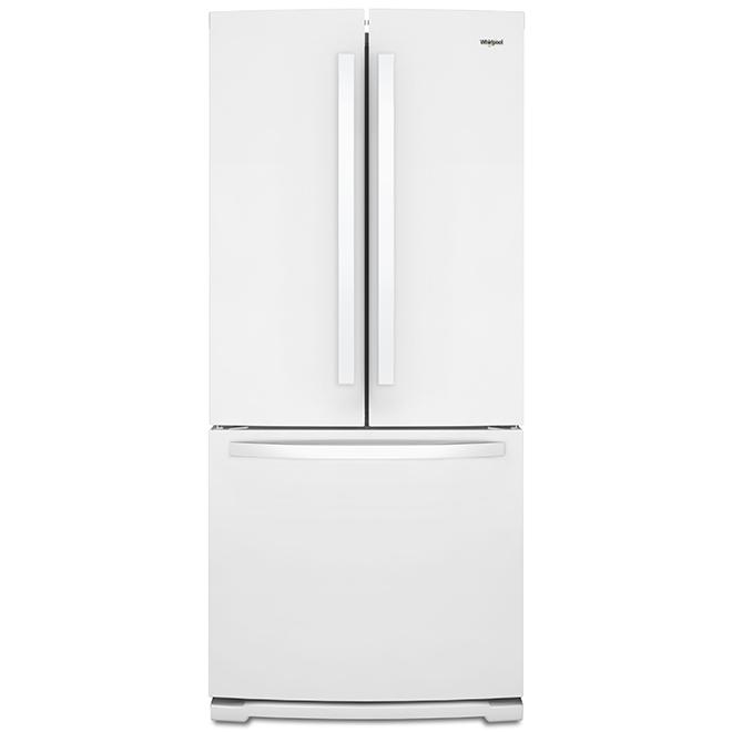 "French-Door Refrigerator -30"" - 20 cu. ft. - White"