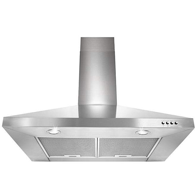 "Wall Chimney Hood - 30"" - 400 CFM - 69 dBA - Stainless Steel"