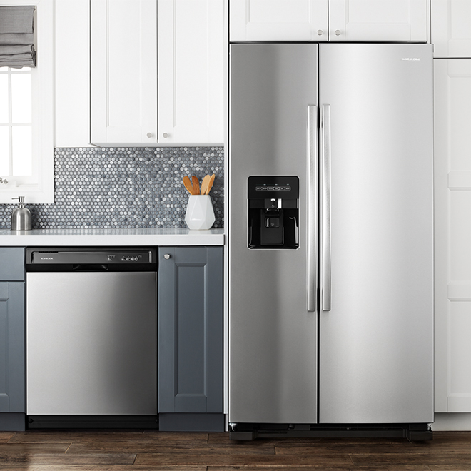 "Side-by-Side Refrigerator - 33"" - 21.4 cu. ft. - SS"