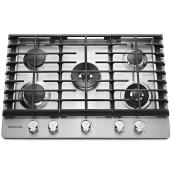 "Gas Cooktop with Even-Heat(TM) Element - 30"" - Stainless Steel"