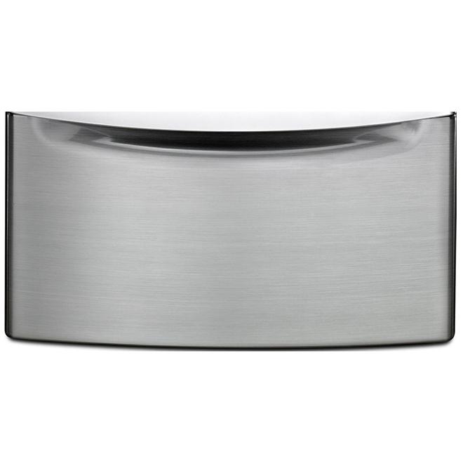 "Pedestal with Storage Drawer - 27"" - Chrome Shadow"