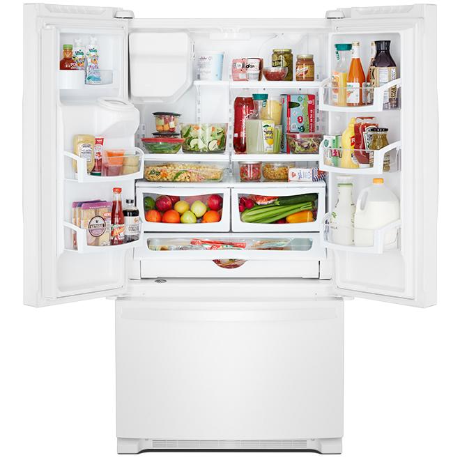 Whirlpool(TM) French-Door Refrigerator - 24.7 cu. ft. - White
