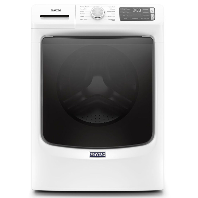 """Laveuse à chargement frontal Maytag, 27"""", 5,5 pi³, blanc"""