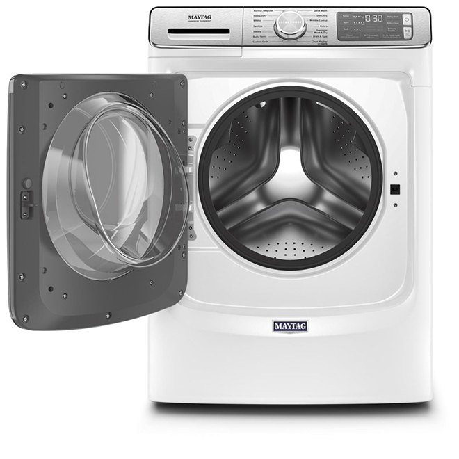 """Maytag Front-Load Washer - 27"""" - 5.8 cu. ft. - White"""