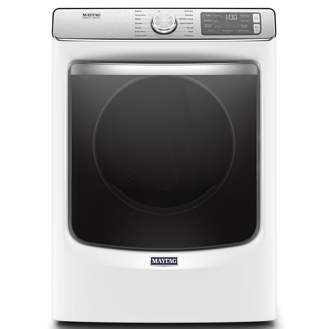 Electric Dryer with Moisture Sensor - 7.4 cu. ft. - White
