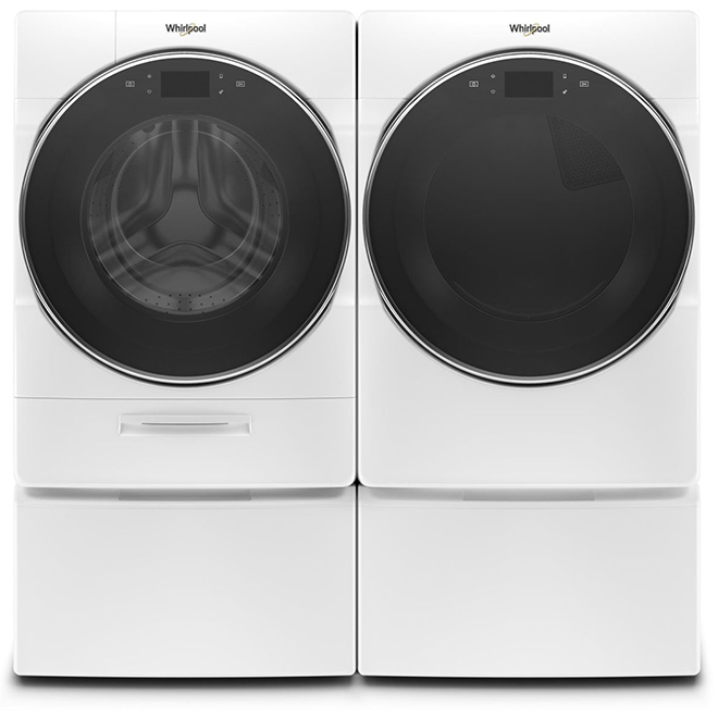 Electric Dryer with Steam - 7.4 cu. ft. - White