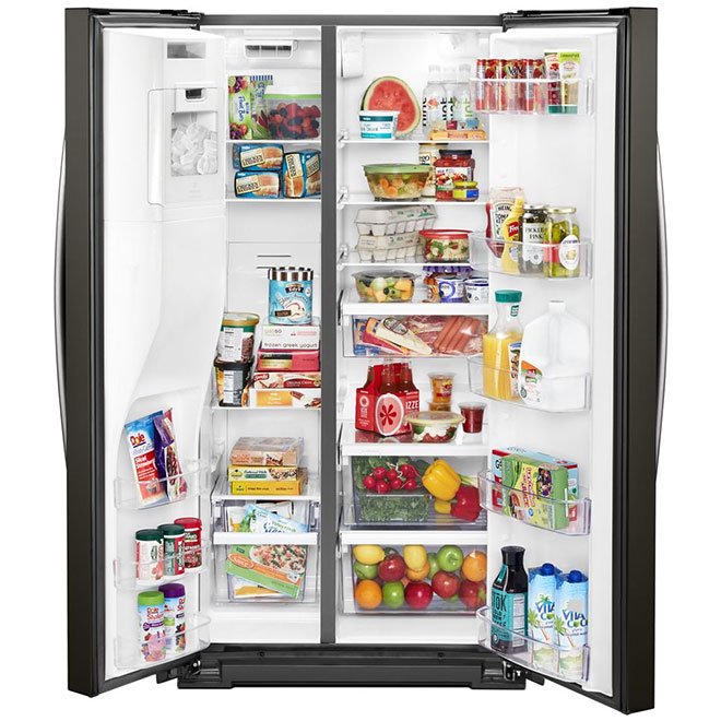 Whirlpool(TM) Side-by-Side Refrigerator - 21 cu. ft. - Black SS