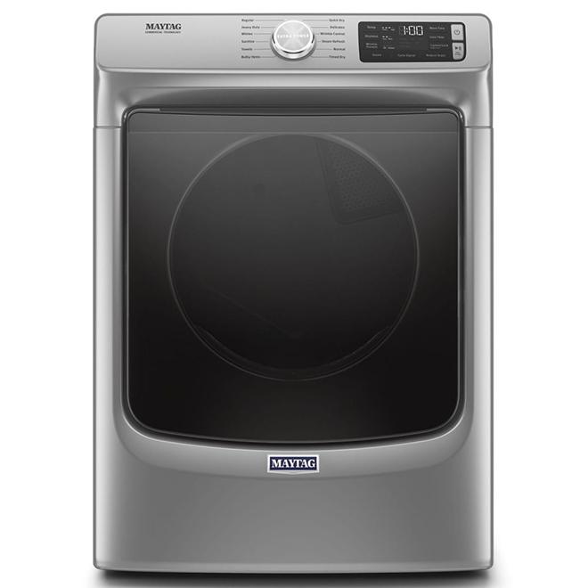"""Maytag Gas Dryer - 27"""" - 7.3 cu. ft. - Chrome Shadow"""