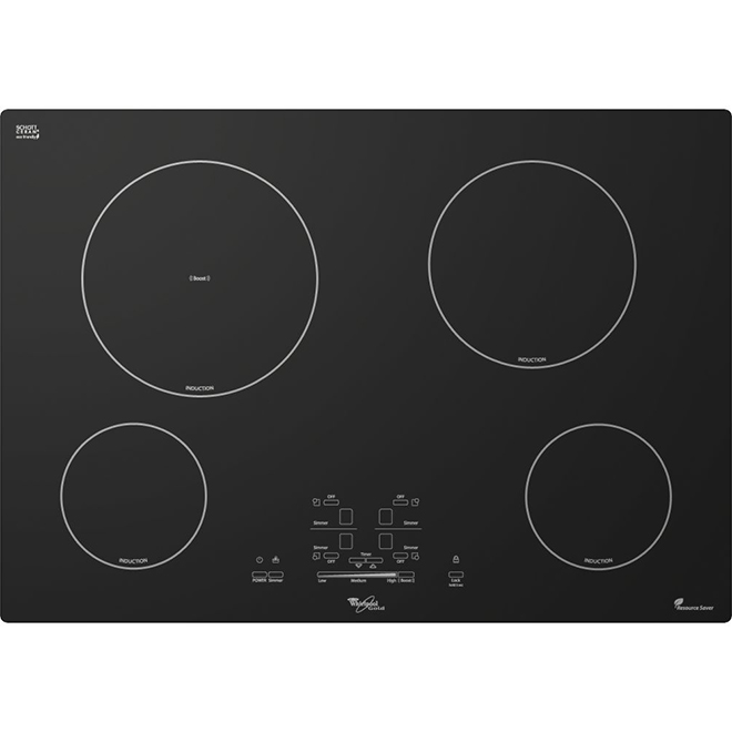 "4-Element Built-In Cooktop - 30"" - Black"
