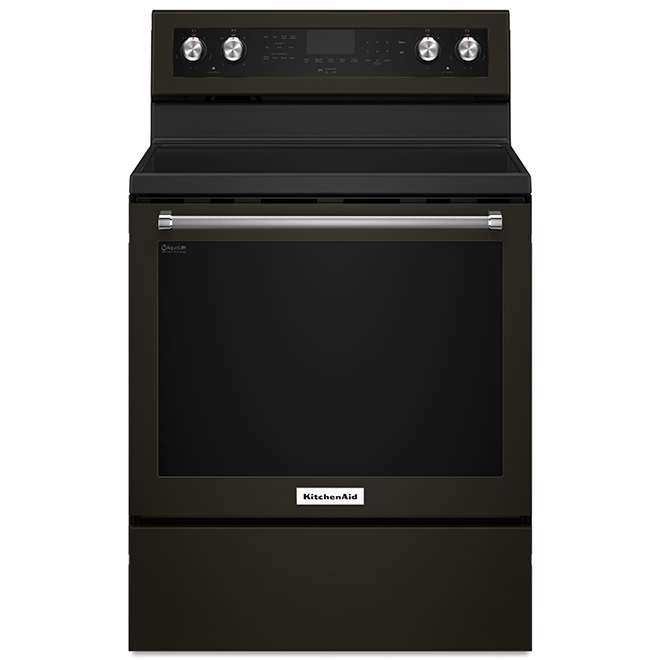 "KitchenAid(R) Convection Range - 30"" - 6.4 cu. ft. - Black SS"