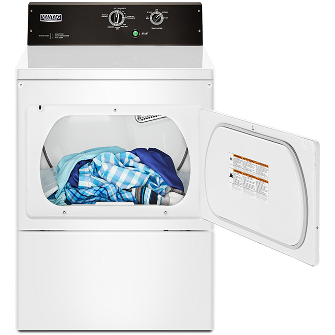 Maytag(R) Commercial-Grade Gas Dryer - 7.4 cu. ft. - White
