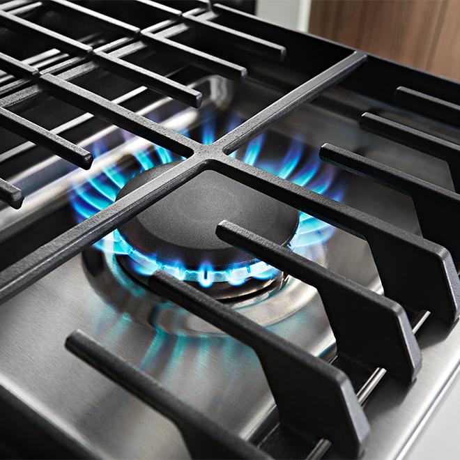 """Surface de cuisson au gaz à 5 brûleurs KitchenAid, 36"""", inox"""
