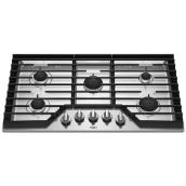 "Whirlpool(TM) 5-Burner Gas Cooktop - 36"" - Stainless Steel"
