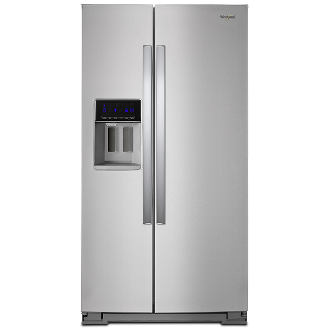 "Whirlpool Side-by-Side Refrigerator - 36"" - 20.59 cu. ft. - SS"