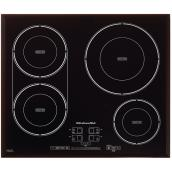 "4-Element Built-In Cooktop - 24"" - Black"
