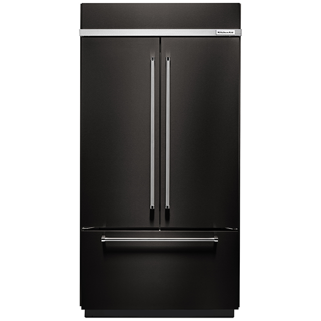"French-Door Refrigerator - 42"" - 24.2 cu. ft. - Black SS"