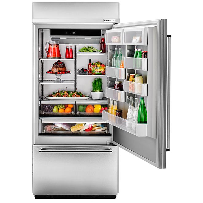 "Built-In Refrigerator - Left Handle - 36"" - 20.9 cu. ft. - SS"