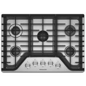 "KitchenAid(R) Gas Cooktop - 30"" - 17,000 BTU - Stainless Steel"