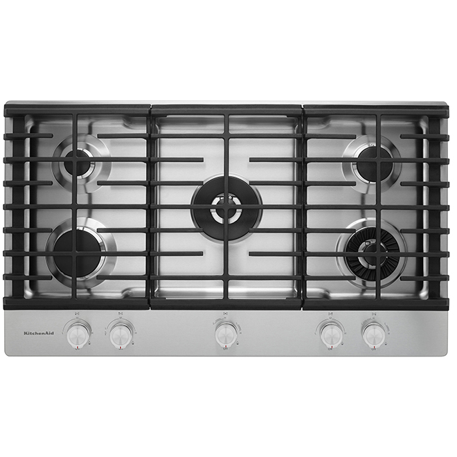 Kitchenaid Surface de cuisson au gaz KitchenAid(MD), 36, 20 000 BTU, inox KCGS956ESS
