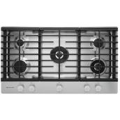 "KitchenAid(R) 5-Burner Gas Cooktop - 36"" - 20,000 BTU - SS"