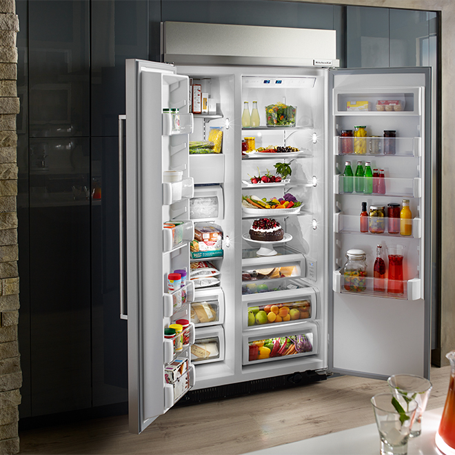"Side-by-Side Refrigerator - 42"" - 25.5 cu. ft. - SS"