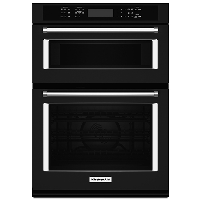 "KitchenAid(R) Electric Wall Oven Combination - 30"" - Black"