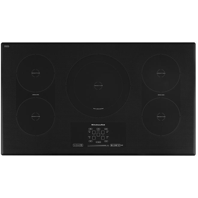 """Surface de cuisson encastrée à 5 éléments, 36"""", noir"""