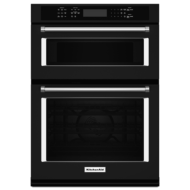 "KitchenAid(R) Electric Wall Oven Combination - 27"" - Black"
