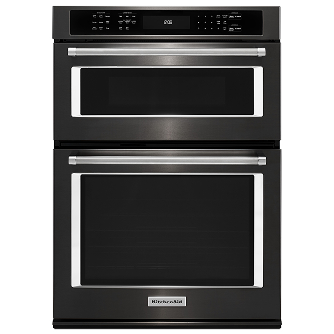 Kitchenaid Four mural combiné électrique KitchenAid(MD), 27, inox noir KOCE507EBS