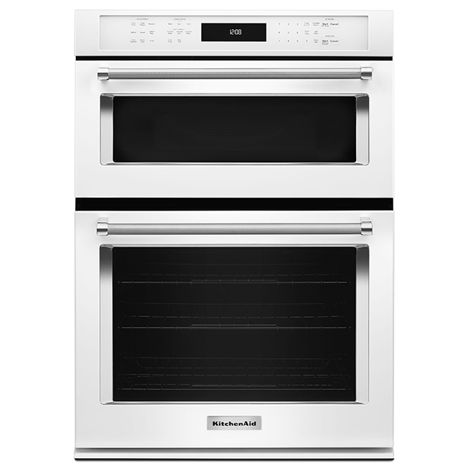 Kitchenaid Four mural combiné électrique KitchenAid(MD), 27, blanc KOCE507EWH