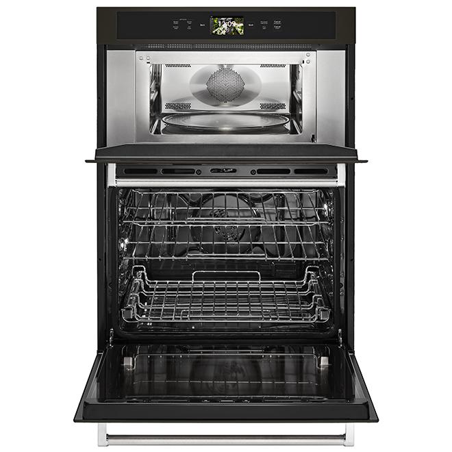 "KitchenAid(R) Smart Combination Wall Oven - 30"" - Black SS"