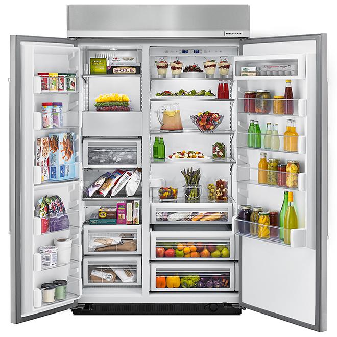 """Réfrigérateur côte-à-côte, 48"""", 30,0 pi³, acier inoxydable"""