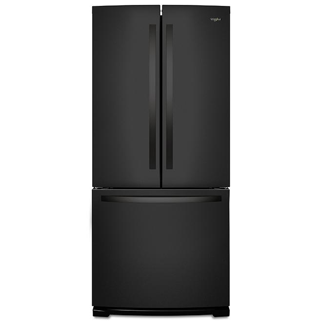 """French-Door Refrigerator - 30"""" - 19.68 cu. ft. - Black"""