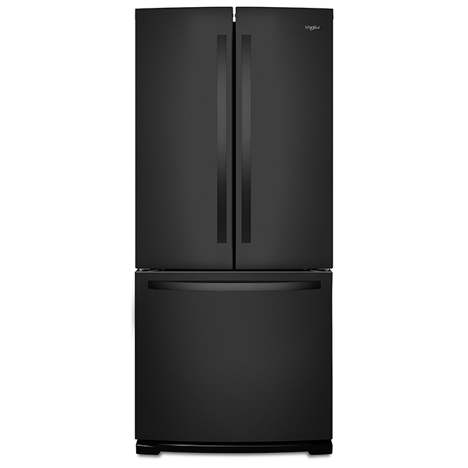 French-Door Refrigerator with Ice Maker - 20 cu. ft. - Black