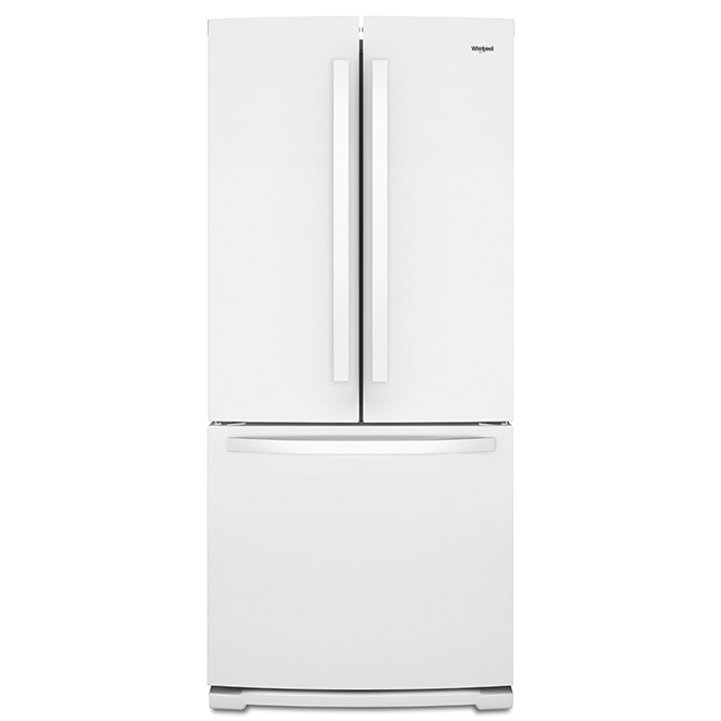 French-Door Refrigerator with Ice Maker - 20 cu. ft. - White