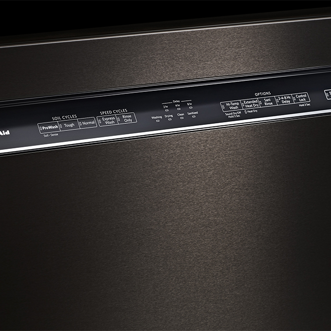 "Built-In Dishwasher - PrintShield - 24"" - Black"