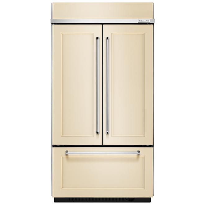 Réfrigérateur portes françaises, panneau personnalisé, 24,2 pi³