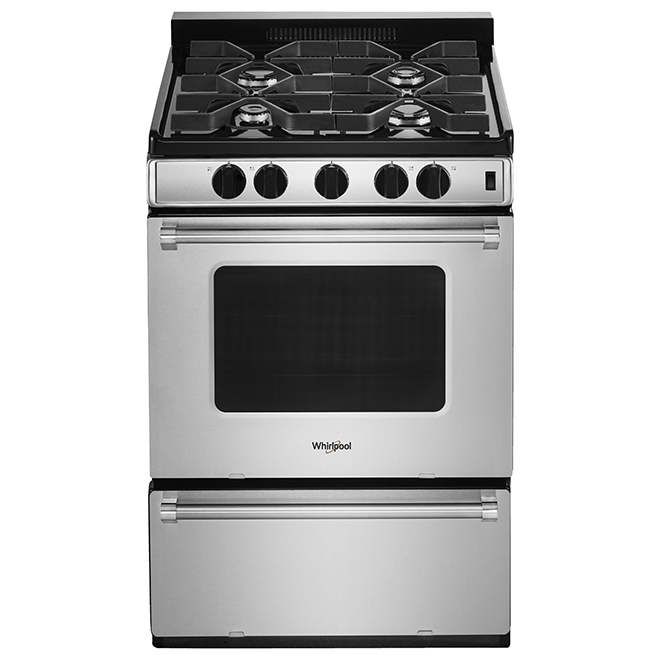 "Whirlpool(R) Freestanding Gas Range - 24"" - 3 cu. ft. - SS"