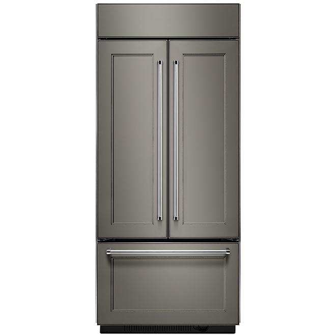 Réfrigérateur portes françaises, panneau personnalisé, 20,8 pi³