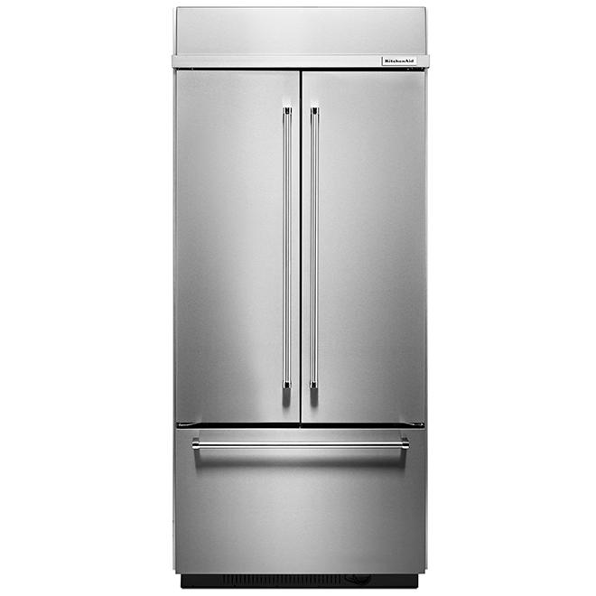"""Réfrigérateur à portes françaises, 36"""", 20,8 pi³, inox"""