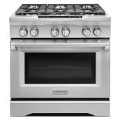 "KitchenAid(R) Dual-Fuel Range - 36"" - 5.1 cu. ft. - SS"