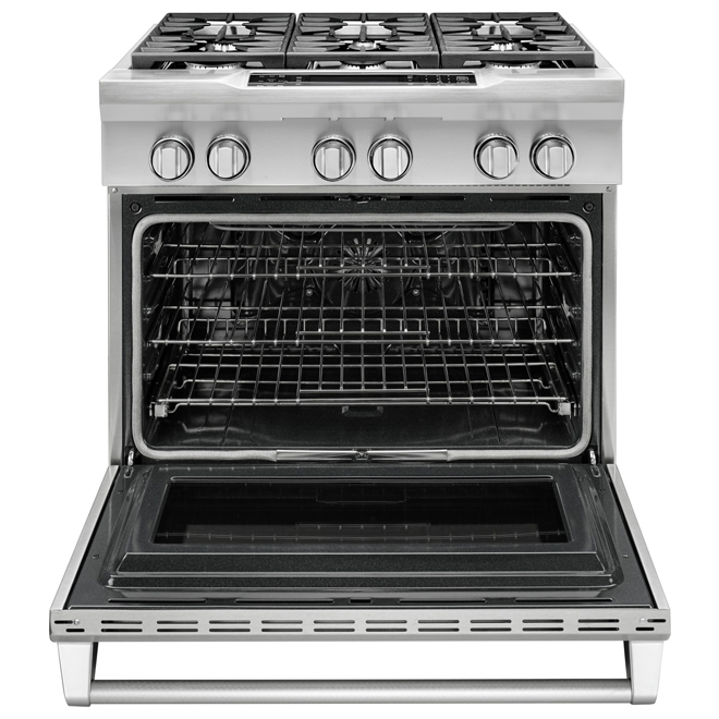 """KitchenAid(R) Dual-Fuel Range - 36"""" - 5.1 cu. ft. - SS"""