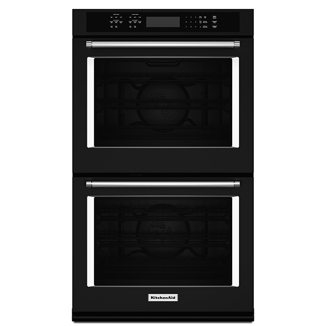 Kitchenaid Four mural double KitchenAid(MD), 30, 10 pi³, noir KODE500EBL