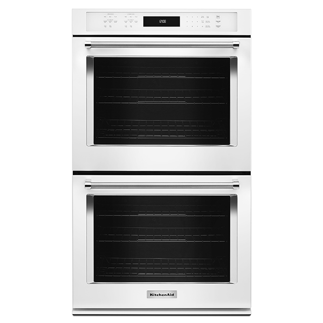 Kitchenaid Four mural double KitchenAid(MD), 30, 10 pi³, blanc KODE500EWH