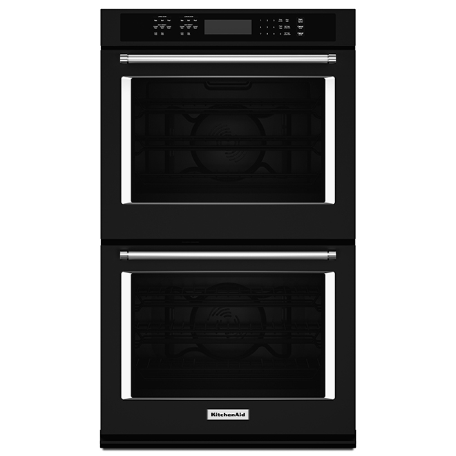 Kitchenaid Four mural double KitchenAid(MD), 27, 8,6 pi³, noir KODE507EBL