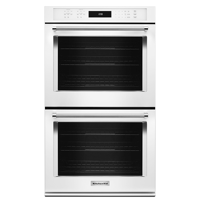 "KitchenAid(R) Double Wall Oven - 27"" - 8.6 cu. ft. - White"