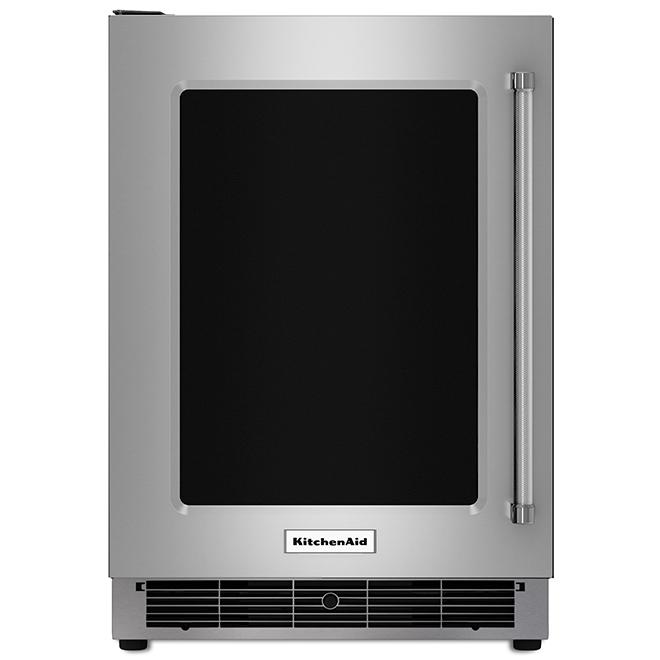 Réfrigérateur sous-comptoir, bordures en métal, 5,1 pi³, inox